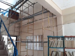 Scaffolding set up prior to painitng