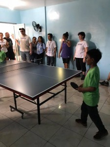 Ormoc boys with their new Table Tennis table.