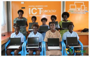 IT Lab set up in Arawa, PNG